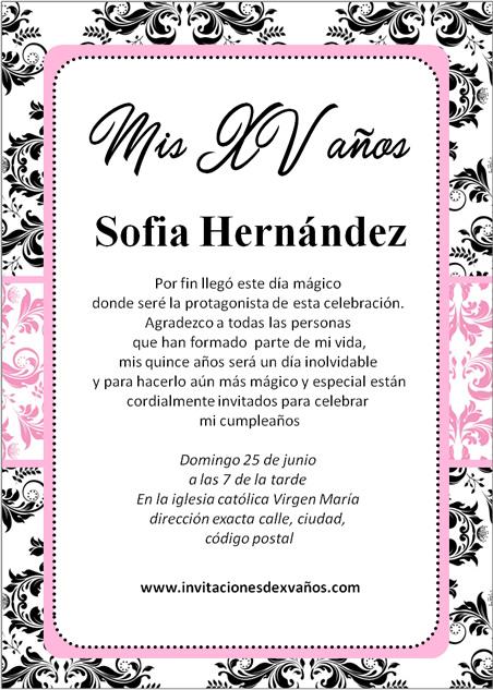 Invitación De 15 Años