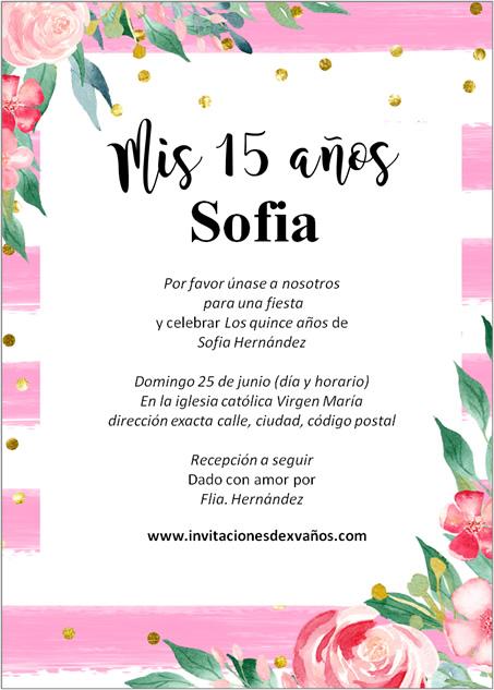 Invitación De XV Años