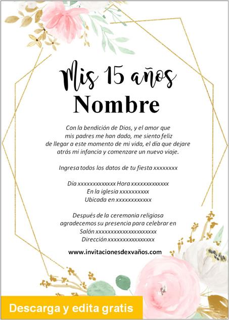 Invitaciones de Xv Años elegantes