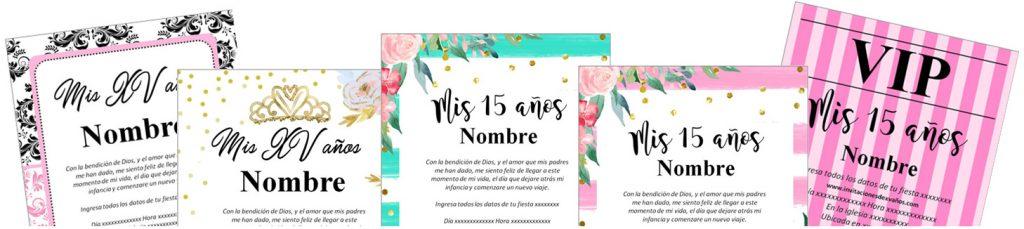 Invitaciones de 15 años banner